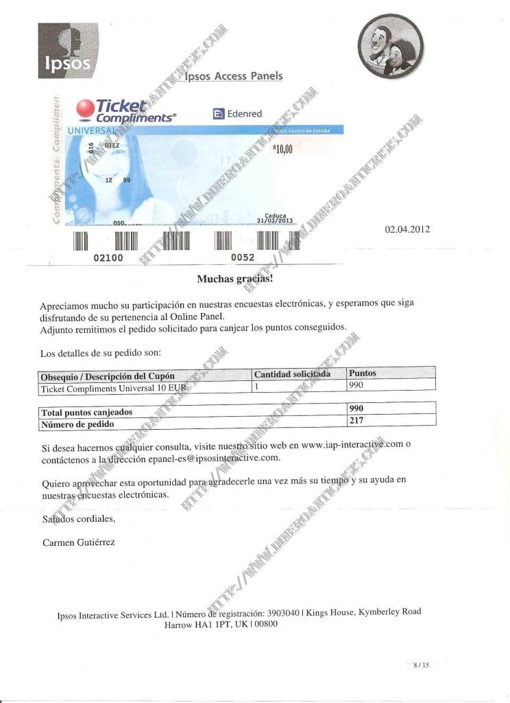 Comprobante pago ipsos 2012